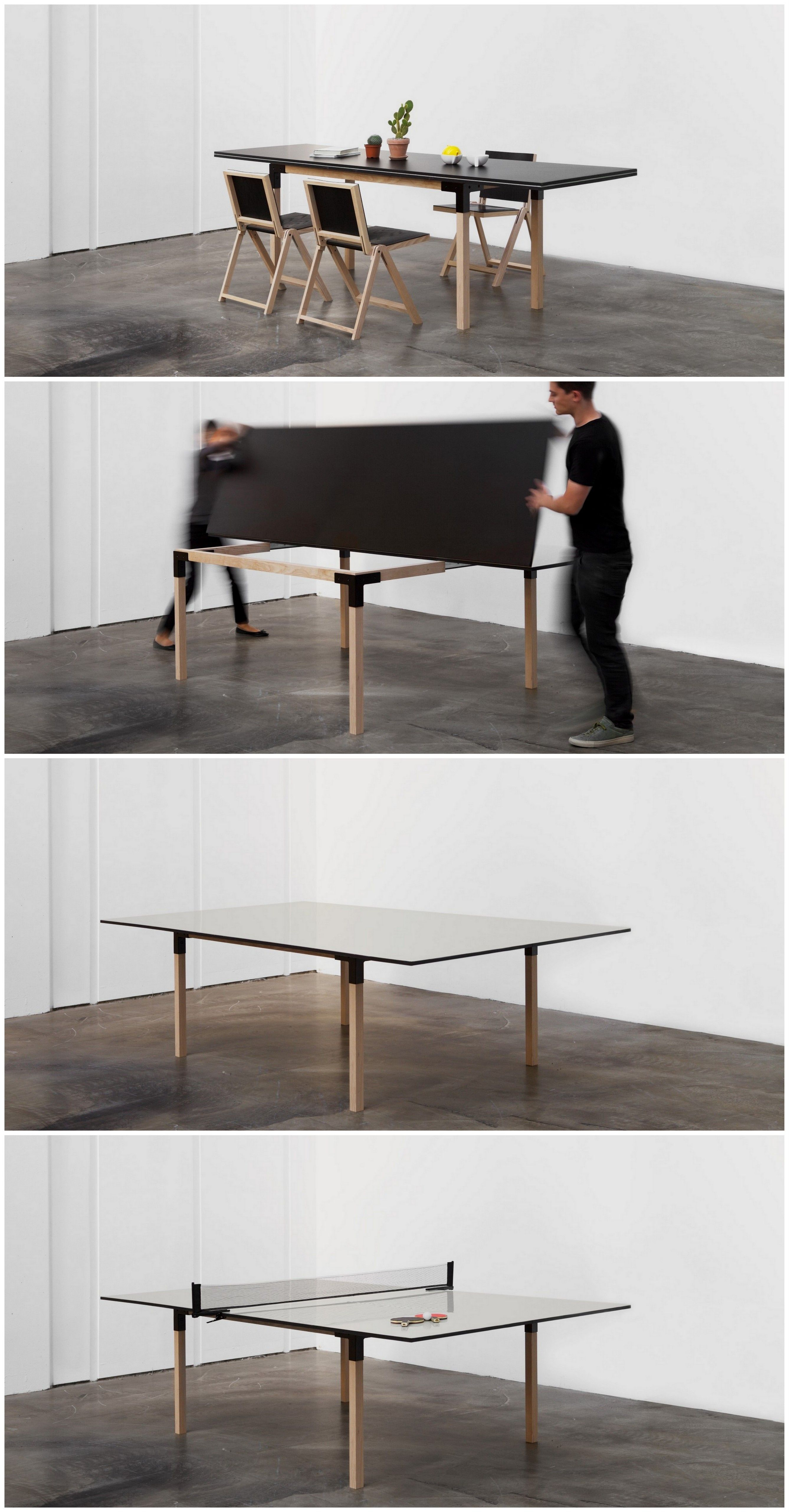 From A 8 People Dining Table To A Full Size Ping Pong Table! Brings
