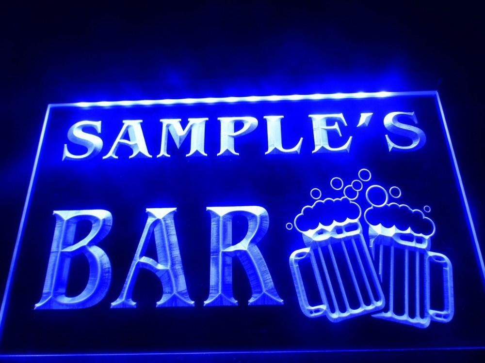 Personalized Neon Signs Beauteous Dz028 Name Personalized Custom Home Bar Beer Mugs Cheers Led Neon Review