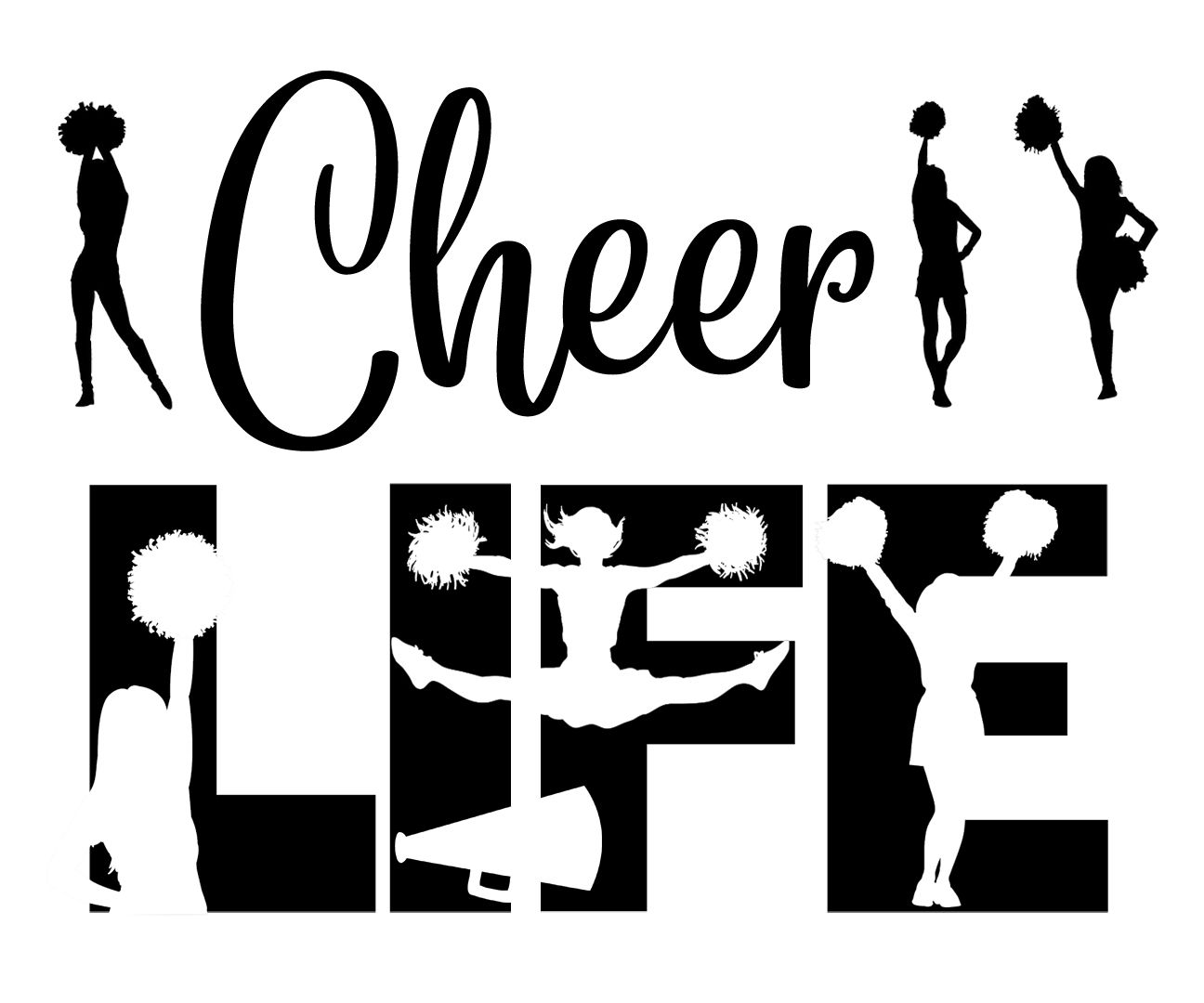 Free Cheer Life Svg File In With Images