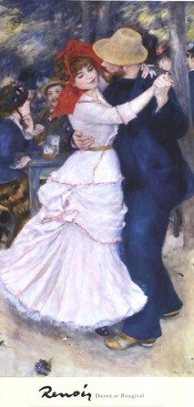 Dance at Bougival by Pierre-Auguste Renoir art print