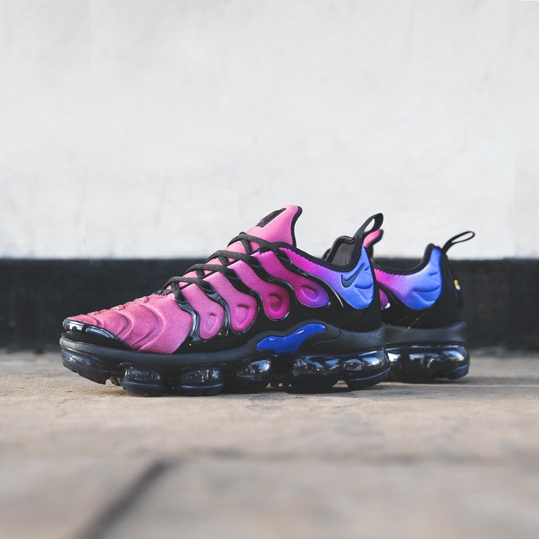 b0e1c8dea7 Heritage design meets the future of Nike Air cushioning to create the Air  VaporMax Plus. The Women's Nike Air VaporMax Plus 'Bleached Aqua/Hyper  Violet' is ...