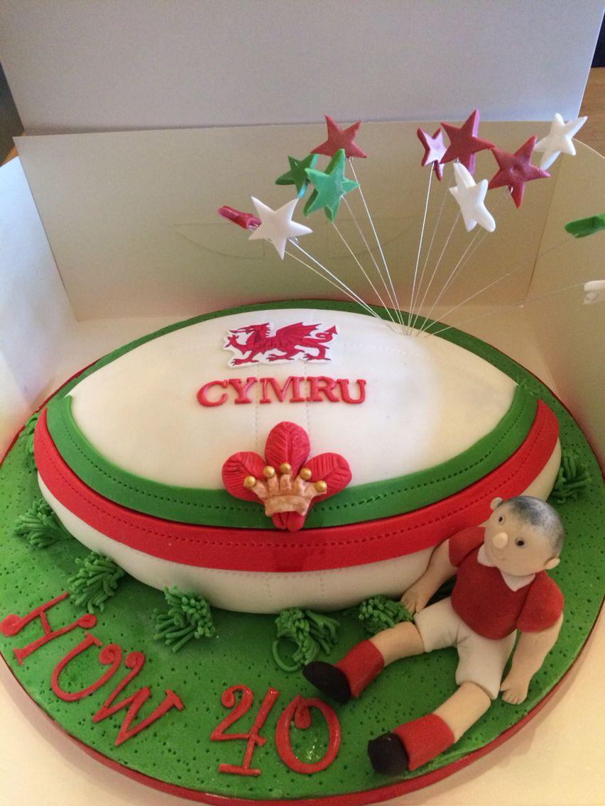 Welsh Rugby Fan Cake Birthday Cake Kids