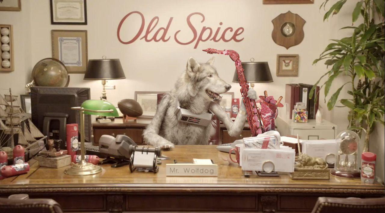 old spice wolfdog