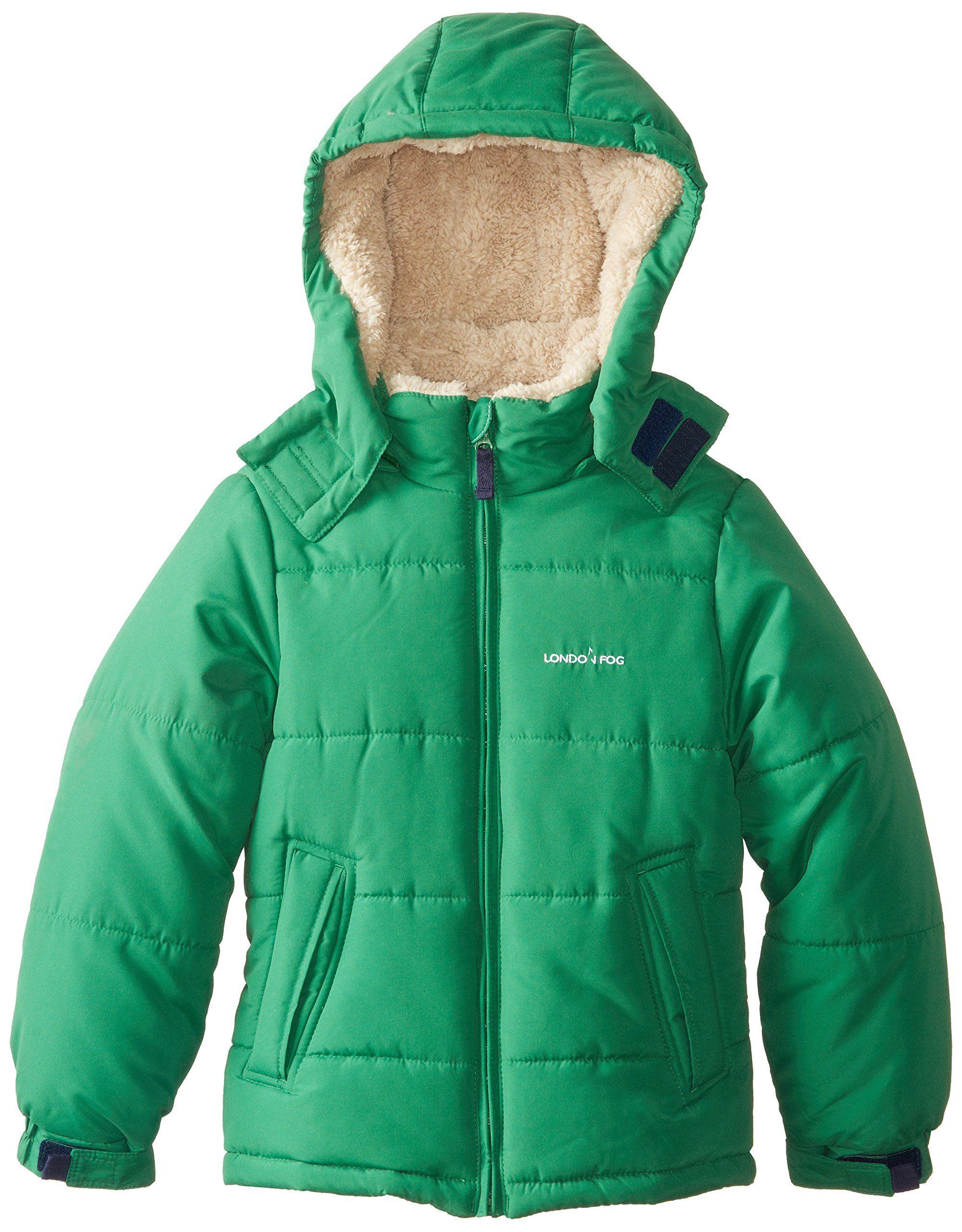506e6296c London Fog Big Boys  Essential Hooded Puffer Coat