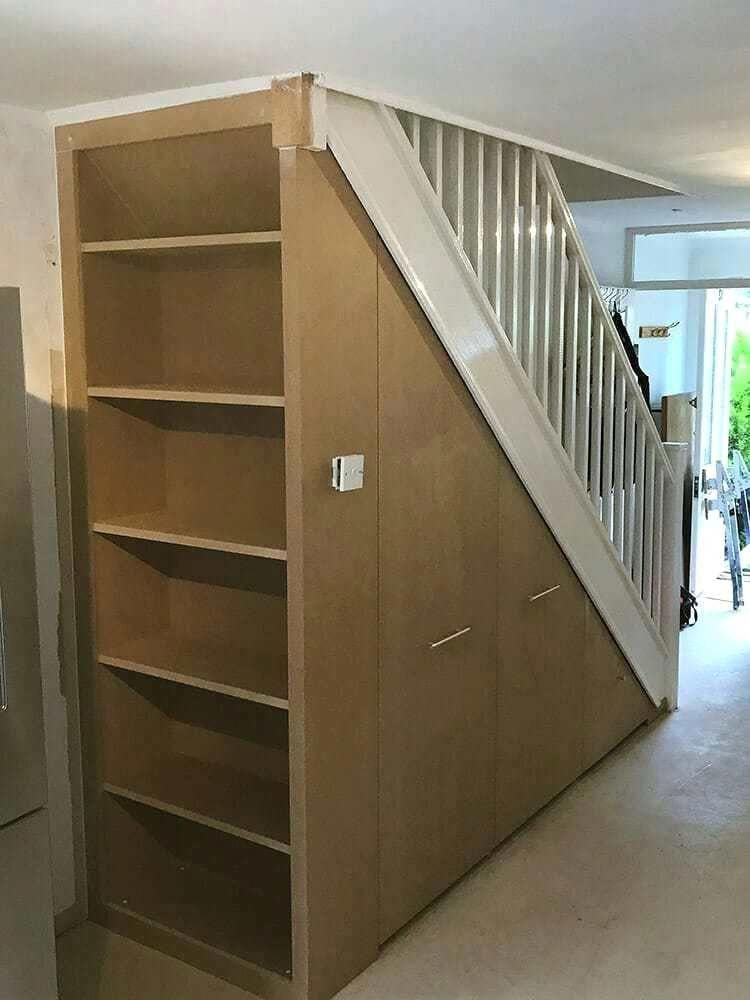 Creations Form London Shelving Stair Storage Under Stairs S Creations Creations Form London Shelving In 2020 Understairs Storage Under Stairs Stair Storage