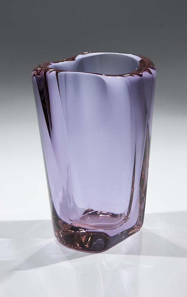 Frantisek Zemek Glass Vase Designed For Moser 1957 Glassworks
