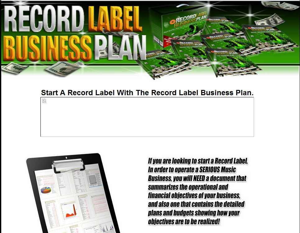 Start Your Own Successful Music Company And Get Funding From - Record label business plan template free