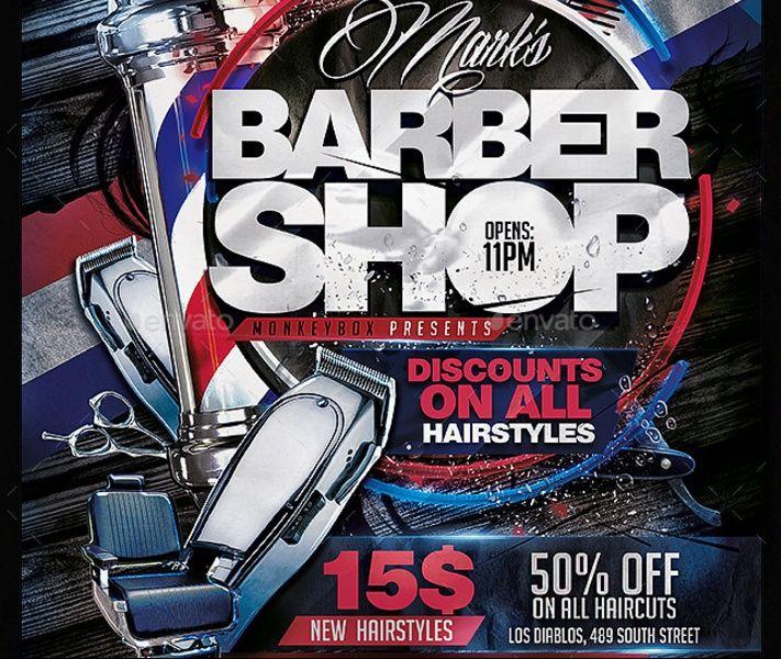 Text Editable Barber Shop Flyer Template
