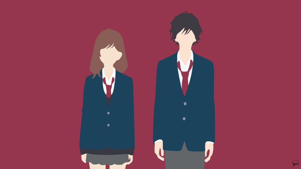 Yoshioka Futaba/Kou Mabuchi {Ao Haru Ride} by greenmapple17 on DeviantArt