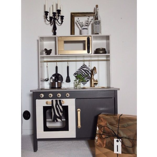 loppisverkstan ikea duktig makeover playkitchen pinterest. Black Bedroom Furniture Sets. Home Design Ideas