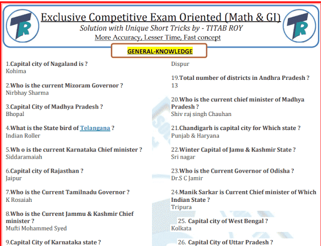 General Knowledge 600 One Liner Questions and Answers PDF