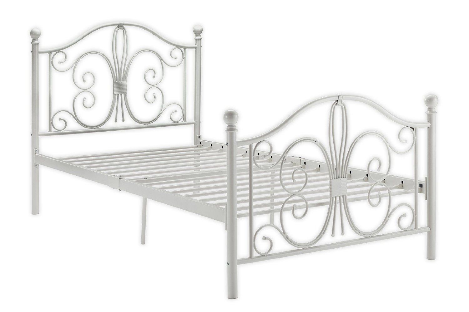 Amazon.com: DHP Bombay Metal Bed, Twin, White: Kitchen & Dining ...