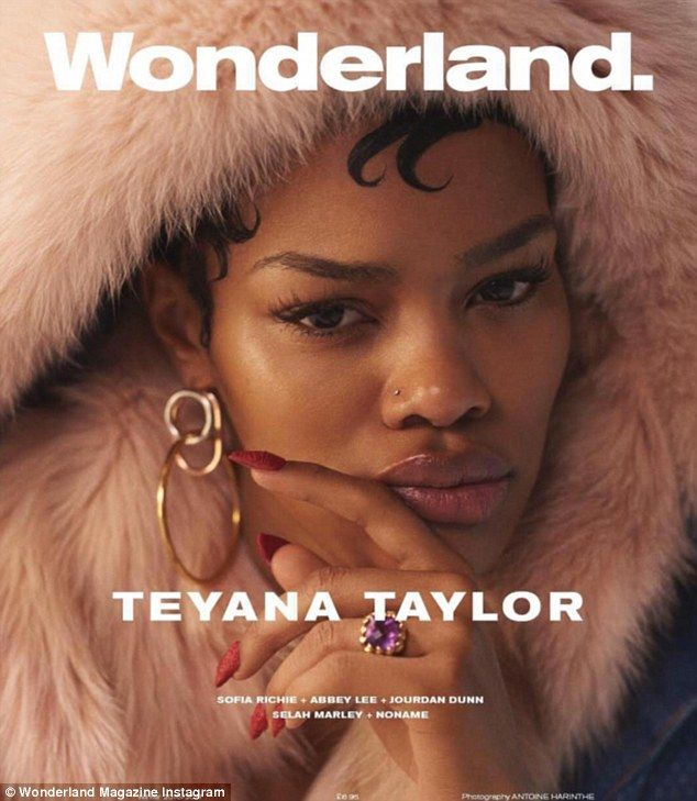 'Another? Oh alright then... here's Teyana Taylor also covering @wonderlandmag #WinterIssue'
