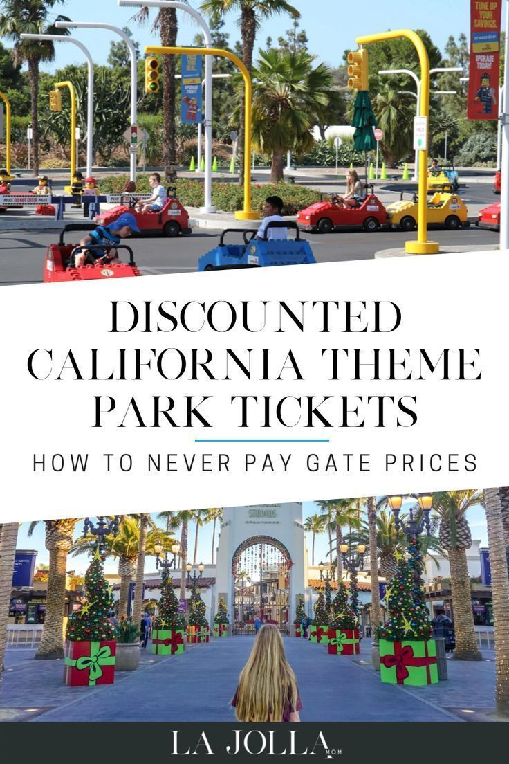 Discounted California theme park tickets! Click through for discounts to some of California's most popular destinations! #travel #disneyland #legoland Learn more at La Jolla Mom