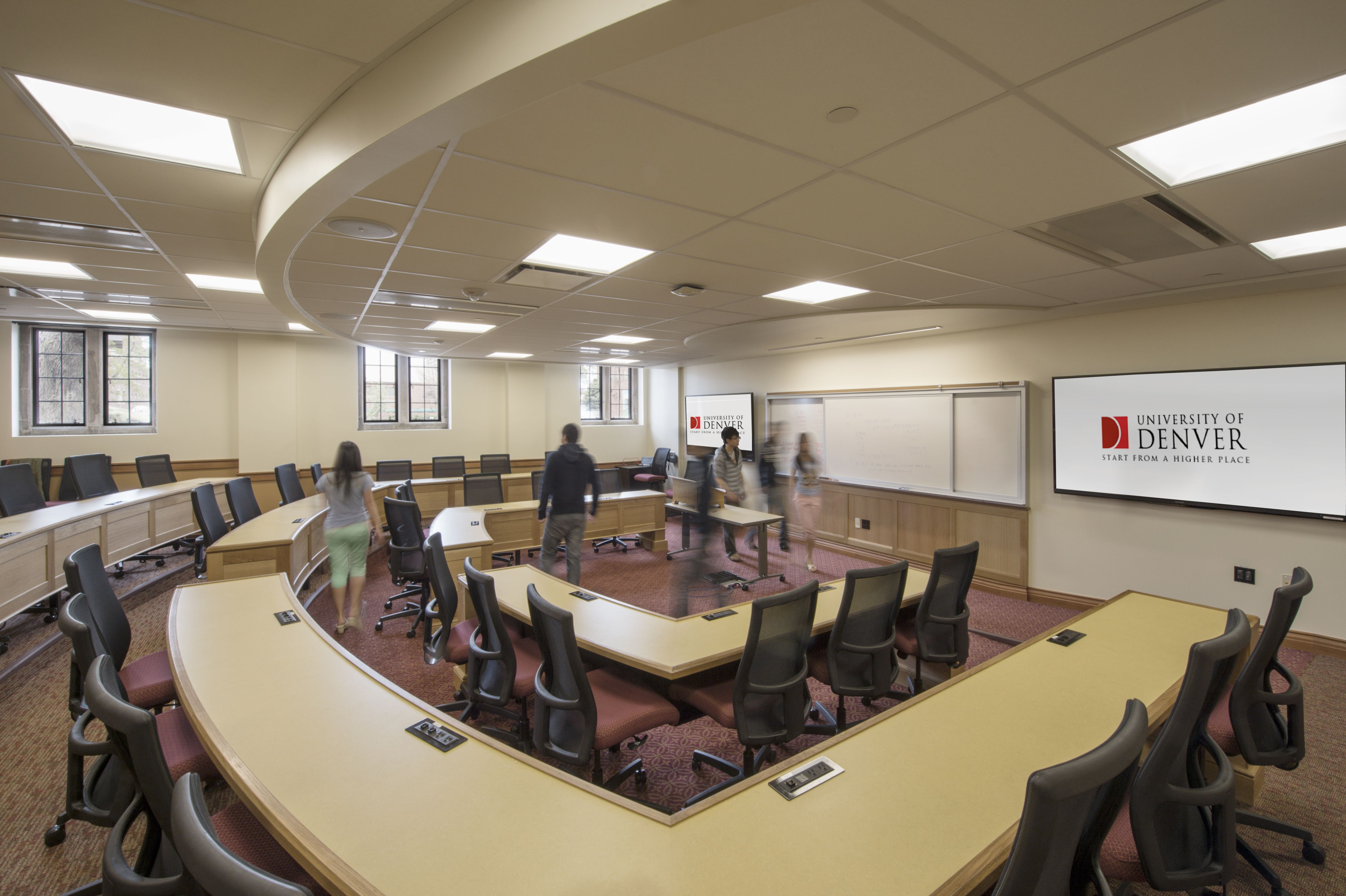 Tiered Classroom Design Standards ~ University of denver margery reed hall tiered classroom