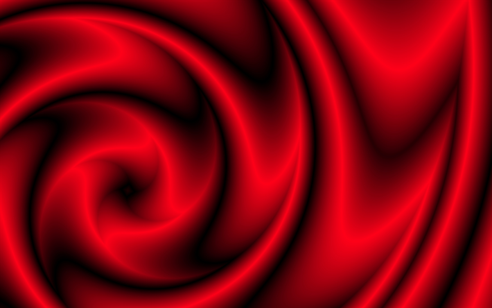 Download wallpapers circles, rings, vortex, red silk, creative