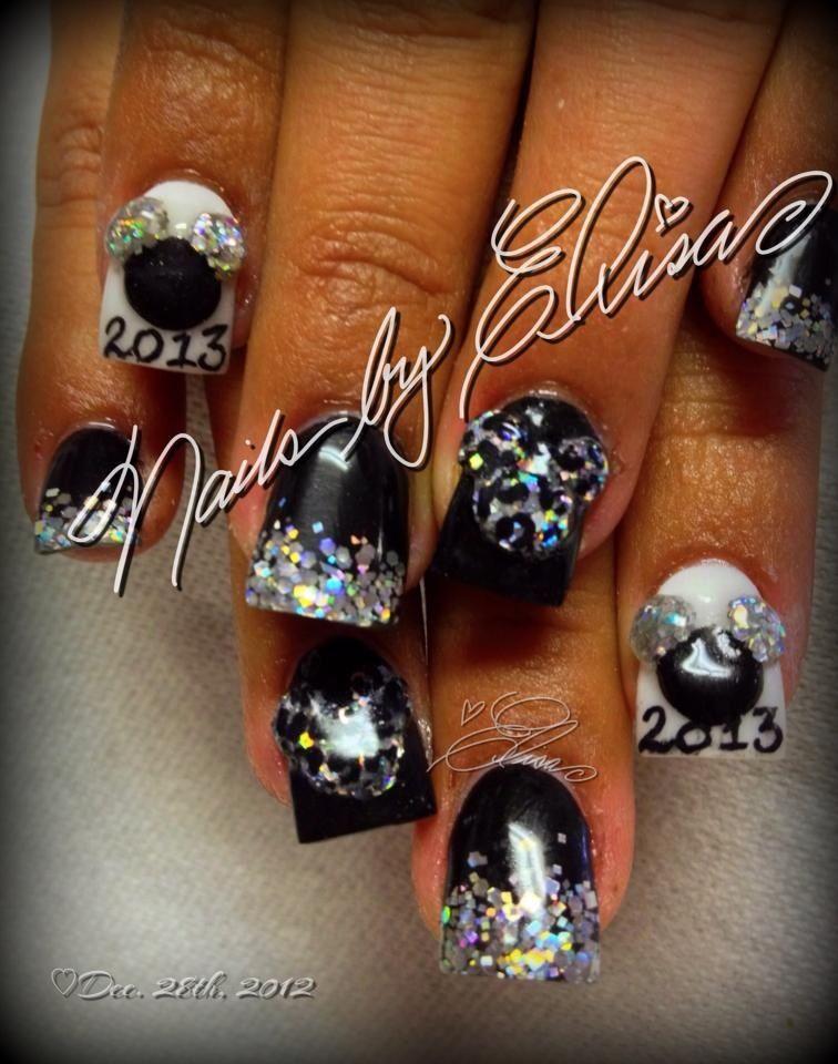 Mickey New Year Nails | Nails | Pinterest | Disney nails, Hair ...