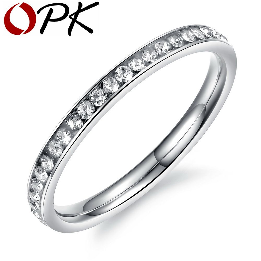 OPK Fashion Women Party Rings Bands Classical SilverBlackRose Gold