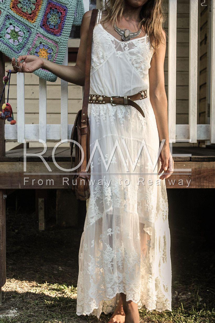 Maxi White Gypsy Dress