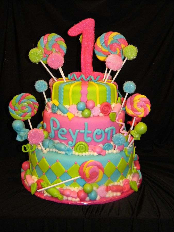 Candy Themed Cakes Candy Theme 1st Birthday Cake Childrens
