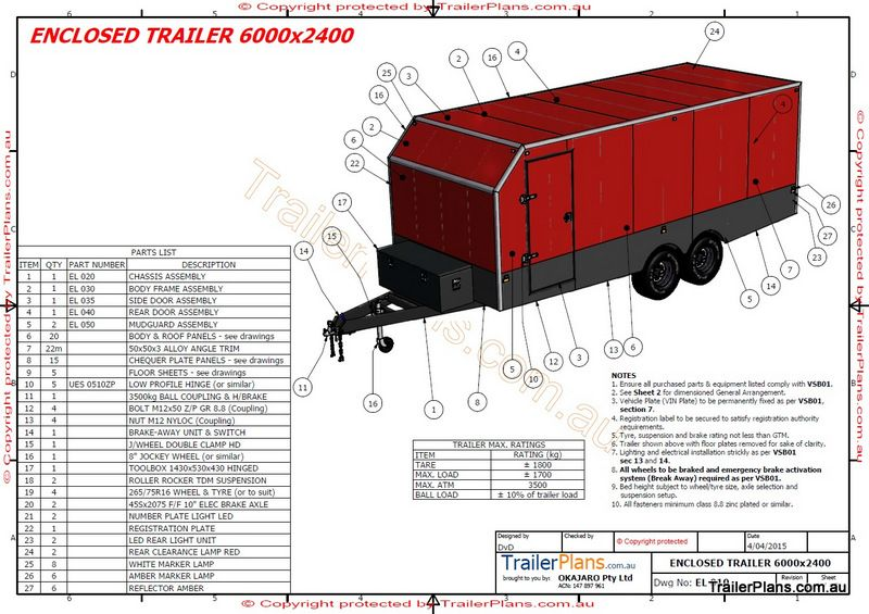 6m Enclosed Trailer In 2019 To Build Trailer Plans
