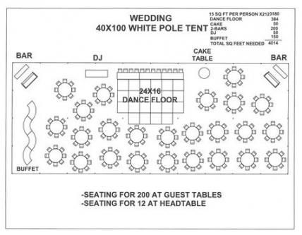 70+ Trendy Ideas For Wedding Reception Tent Floor Plans ...
