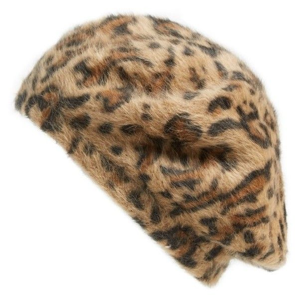 f82d6ea6b4bd Parkhurst 'Angelica' Angora Beret ($25) ❤ liked on Polyvore featuring  accessories, hats, brown leopard, parkhurst beret, angora beret, parkhurst,  leopard ...