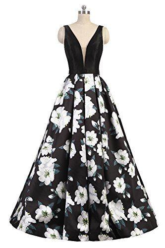 SHANGSHANGXI Floral Print Evening Dresses For Women A Line ...