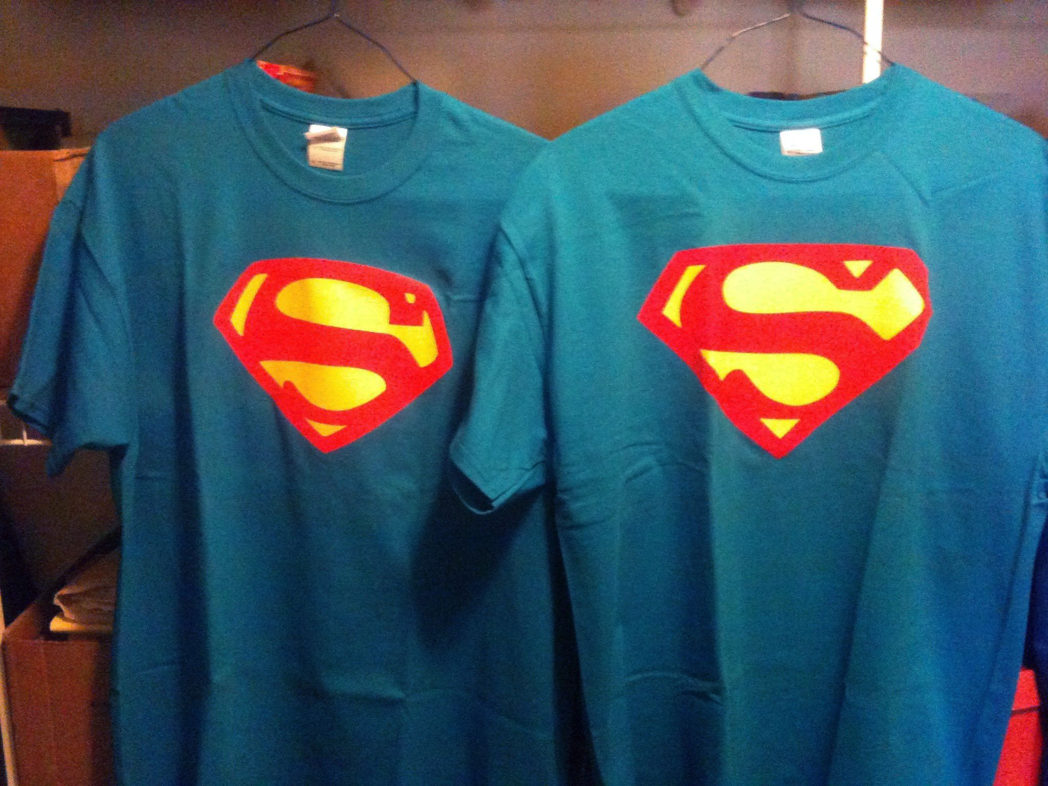 54 Sapphire Superman t-shirt based on George Reeves (LEFT ...