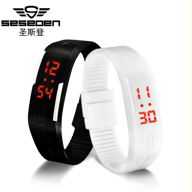 Hot Sale Children Watch Mens Womens Silicone Led Watch Sports Bracelet Digital Square Wrist Watch Gifts For Children Kol Saati Children's Watches