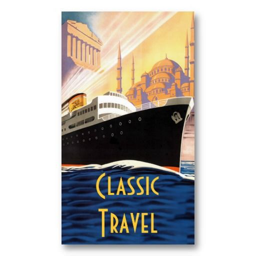 Classic Cruise Ship Travel Business Card Zazzle Promotions - Cruise ship promotions
