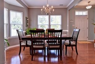 Dining Room Chandeliers Traditional Alluring Traditional Dining Room With 6Panel Exterior Door Kichler Inspiration