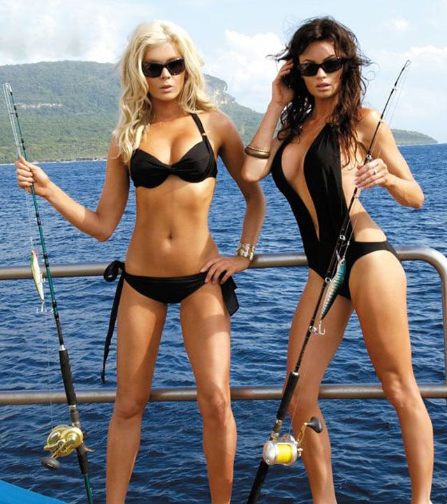 Reel in some sexy fishing babes