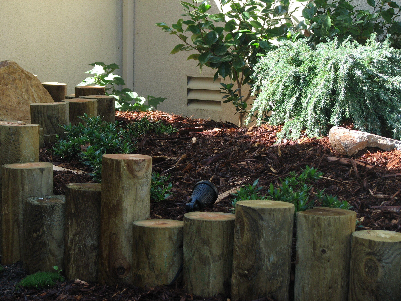 Peeler core for decorative Japanese garden
