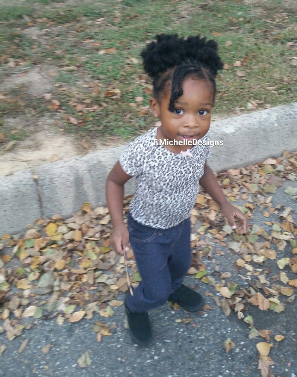 Cornrows Braided Into Two Afro Puffs Toddler Hair Cornrows Braids Toddler Braids