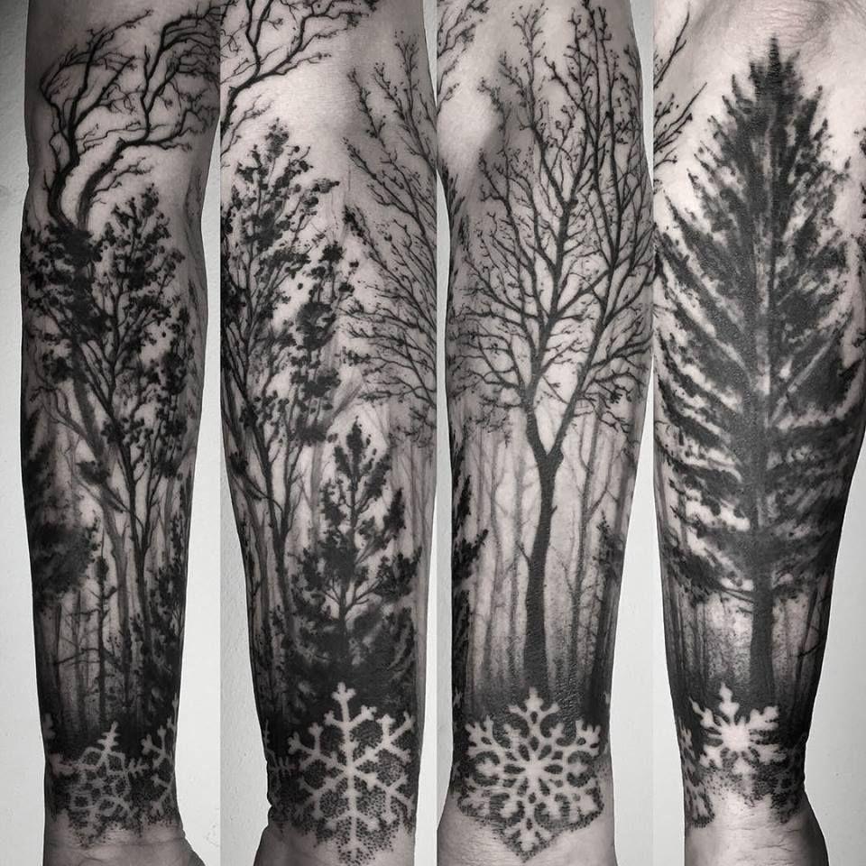 Pechschwarz Tätowierungen Body Art Tatuaż Na Ramieniu