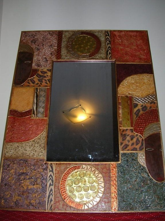 resultado de imagen de marcos para espejos con textura y scrapbook hacer