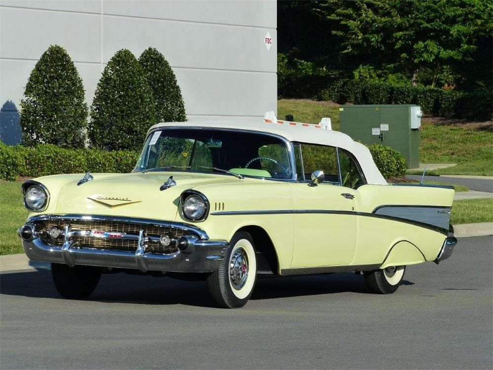 1957 Chevrolet Bel Air Convertible Barrett Jackson Auction Company