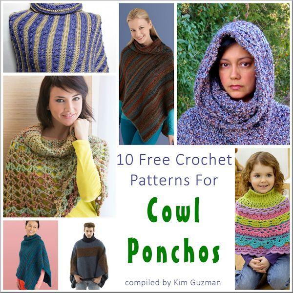 Free Crochet Pattern Link Blast Cowl Neck Ponchos Crochet Yarn
