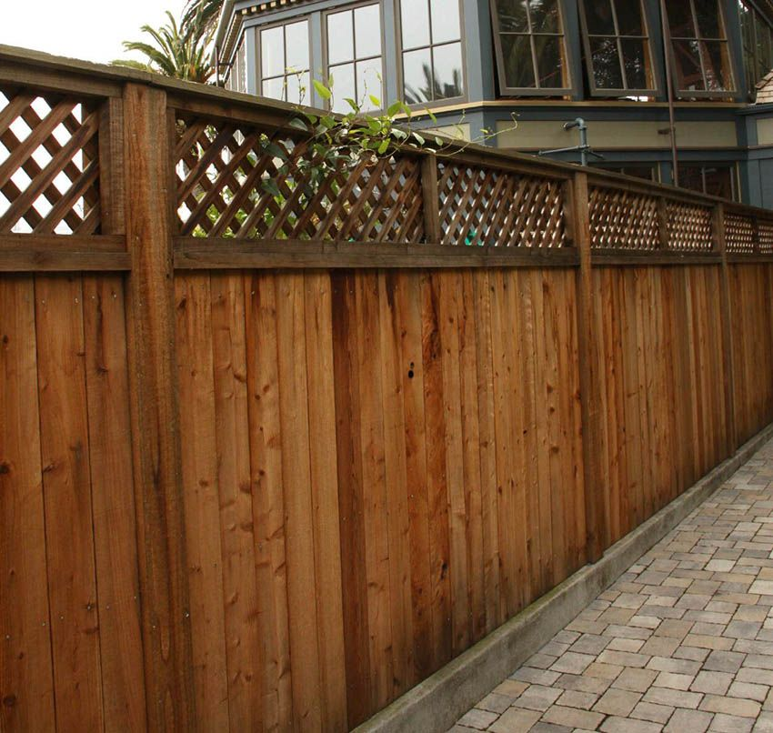 55 lattice fence design ideas pictures of popular types for Good neighbor fence plans
