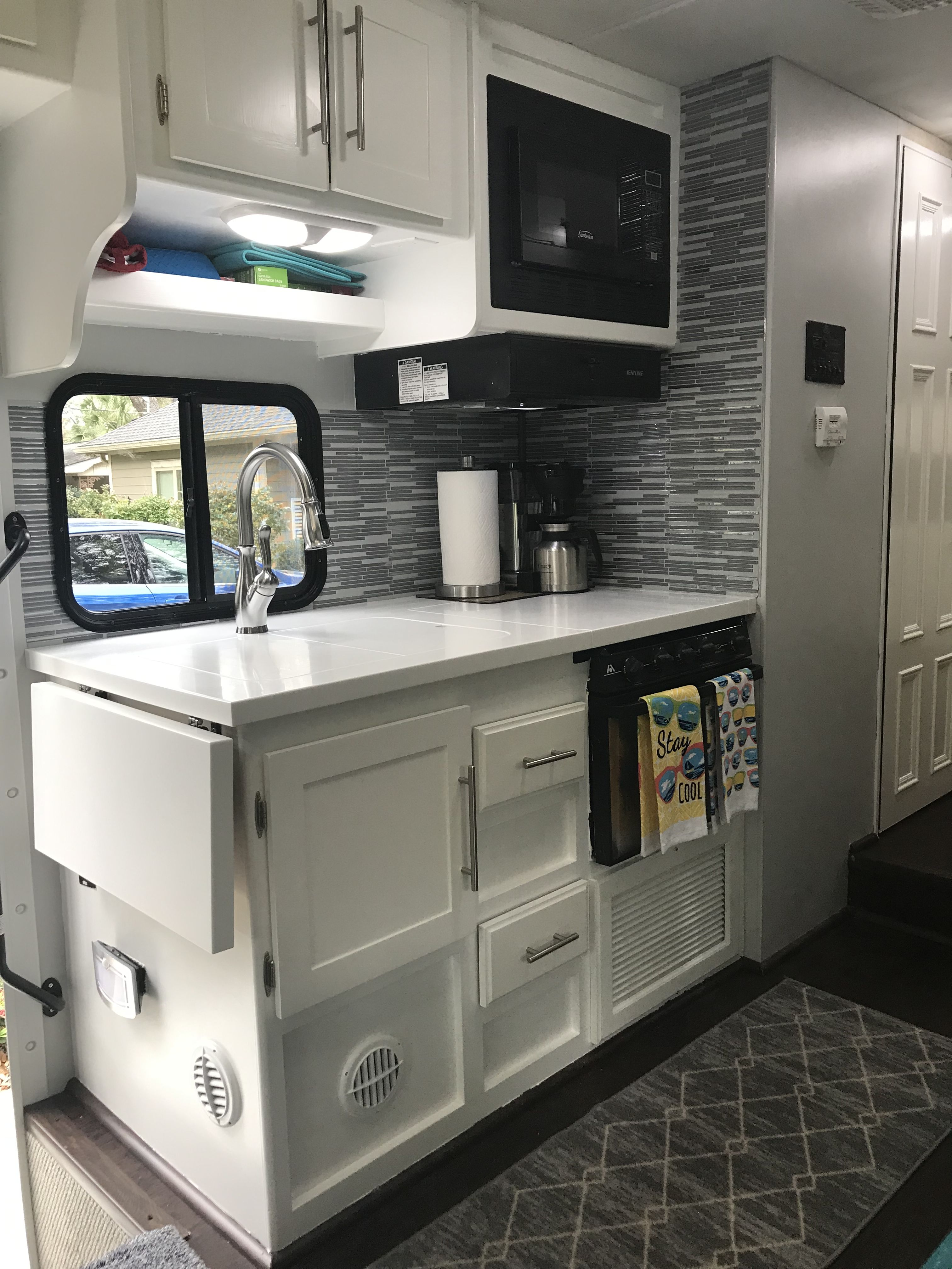 Rv Kitchen Makeover Remodel Painted Cabinets White Kitchen Makeover Kitchen Diy Makeover Kitchen Makeover
