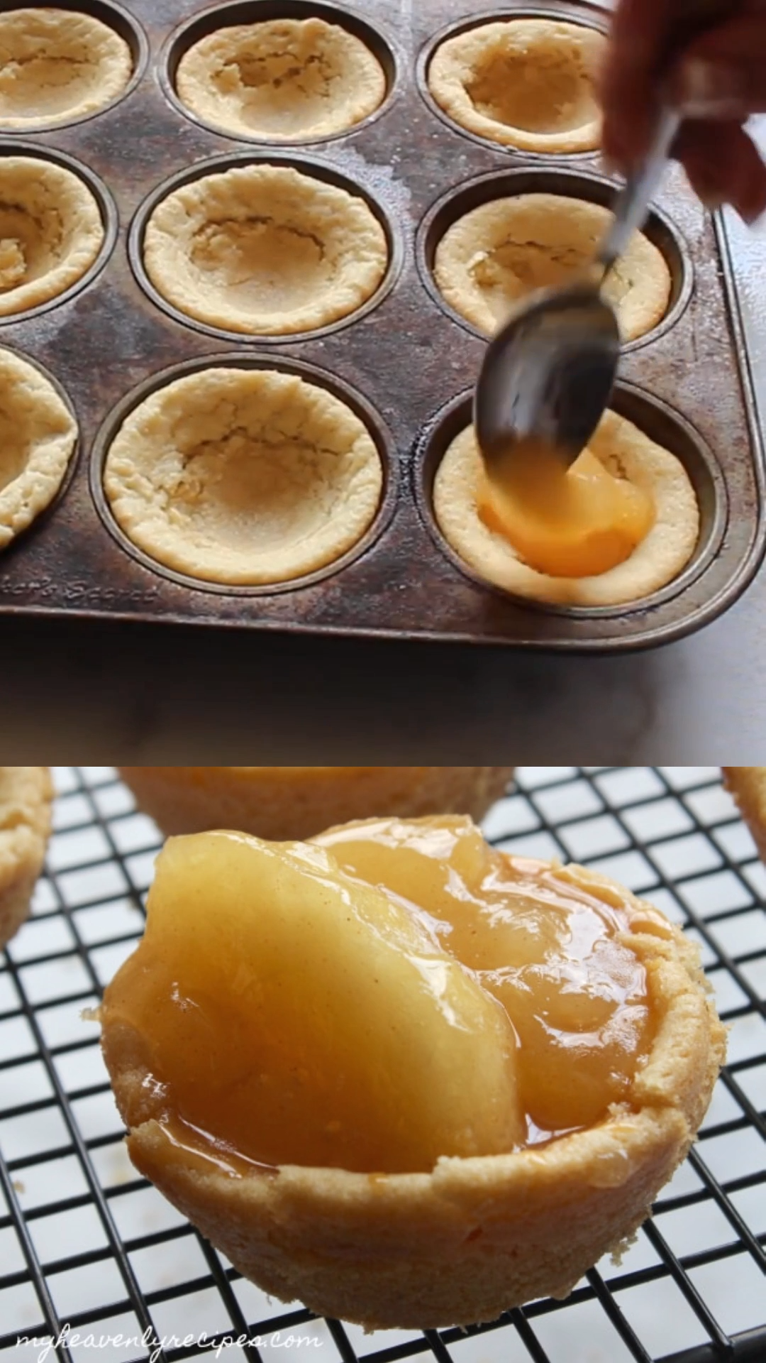 Sugar Cookie Apple Pie Cups