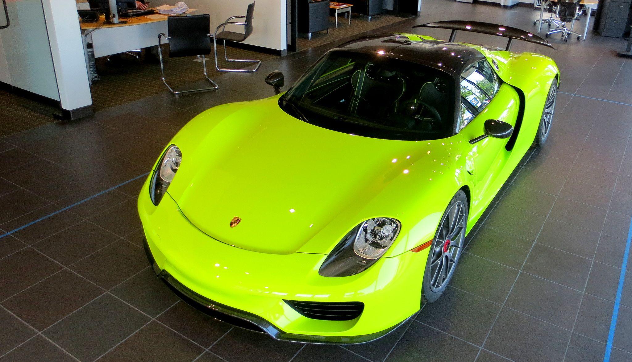 Number 573 of 918 Porsche 918 Spyders built world wide. In Acid ...