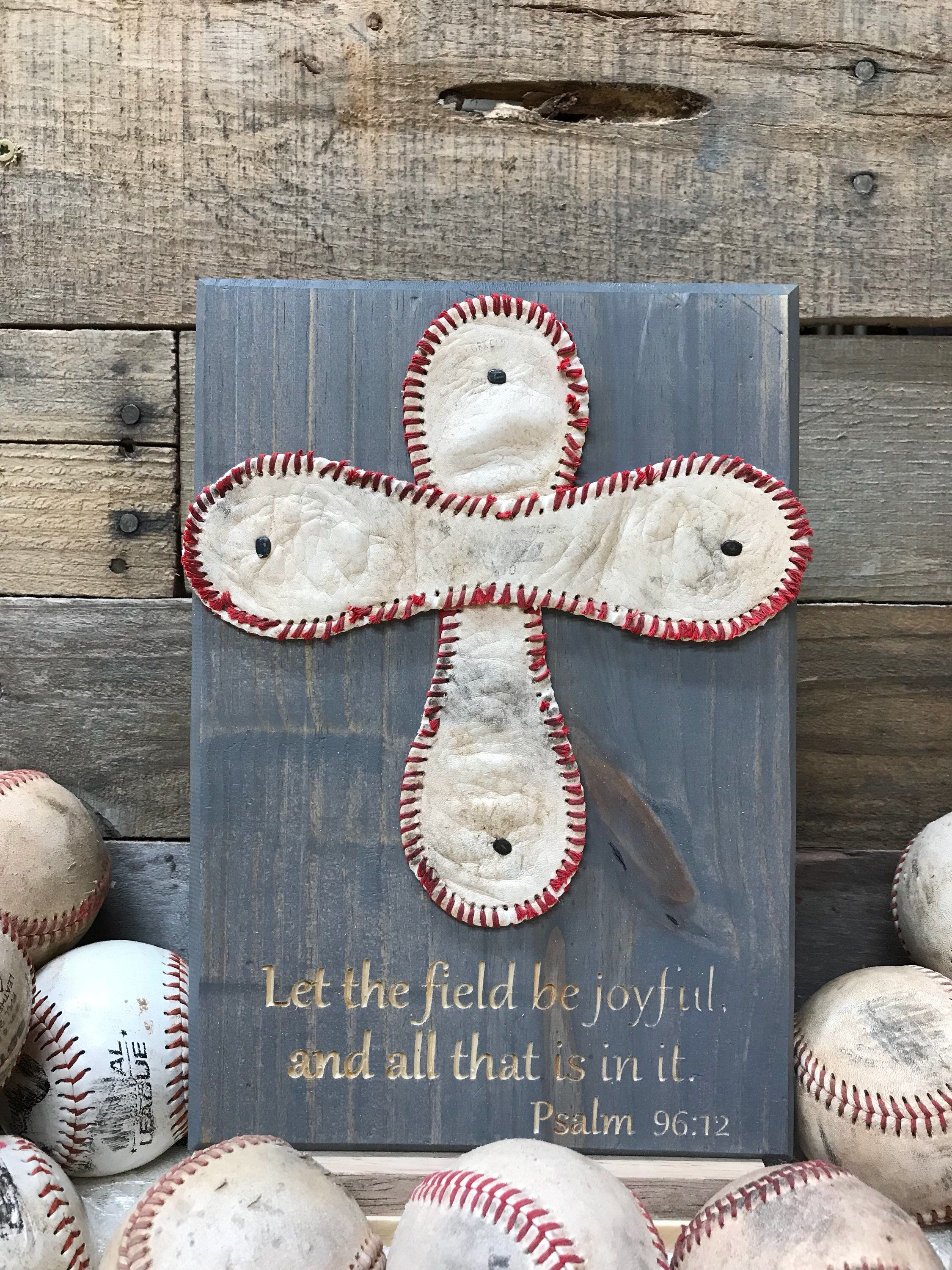 Baseball cross plaque with engraving 911 by downsouthdiy
