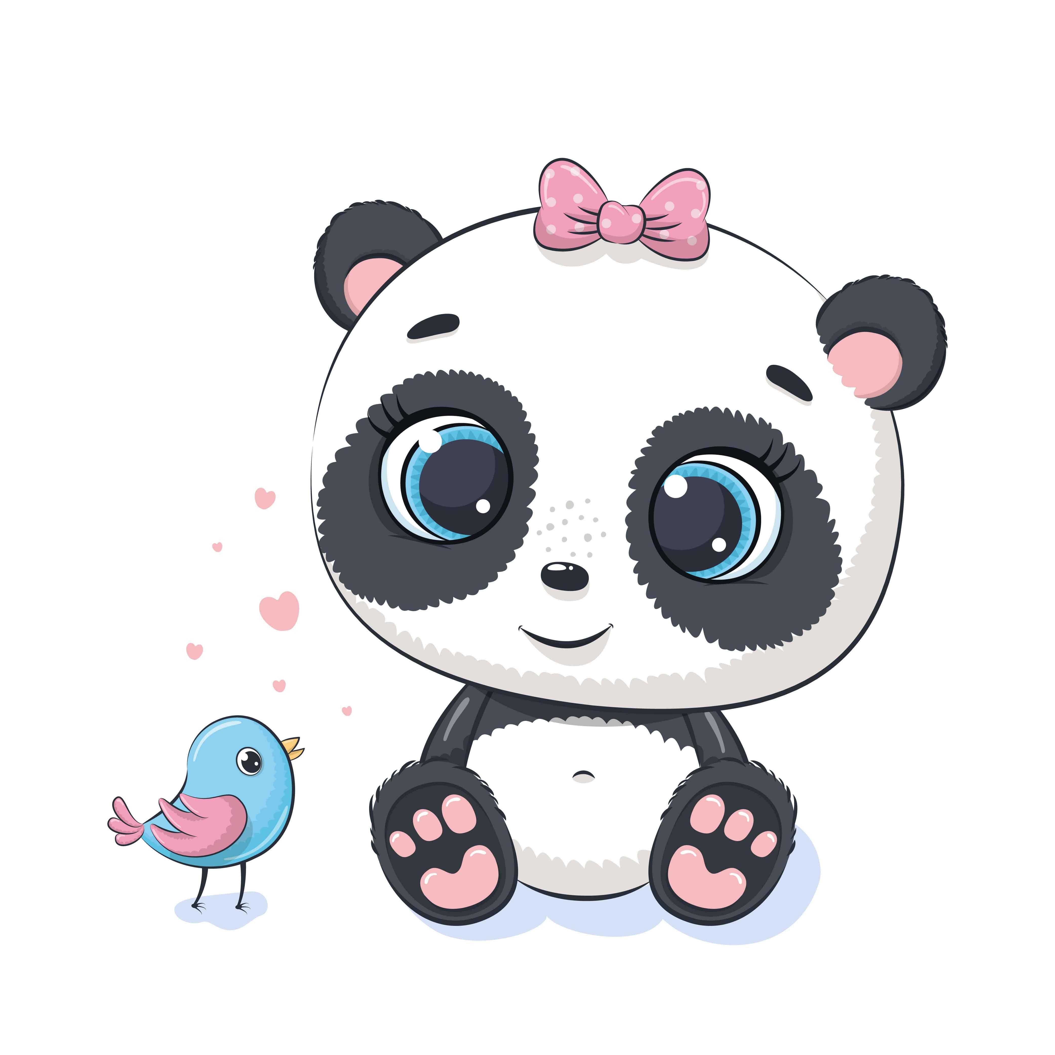 Cute Baby Animals Png Jpg Png 300 Dpi 956410 Illustrations Design Bundles Cute Panda Cartoon Baby Panda Bears Cute Panda Wallpaper