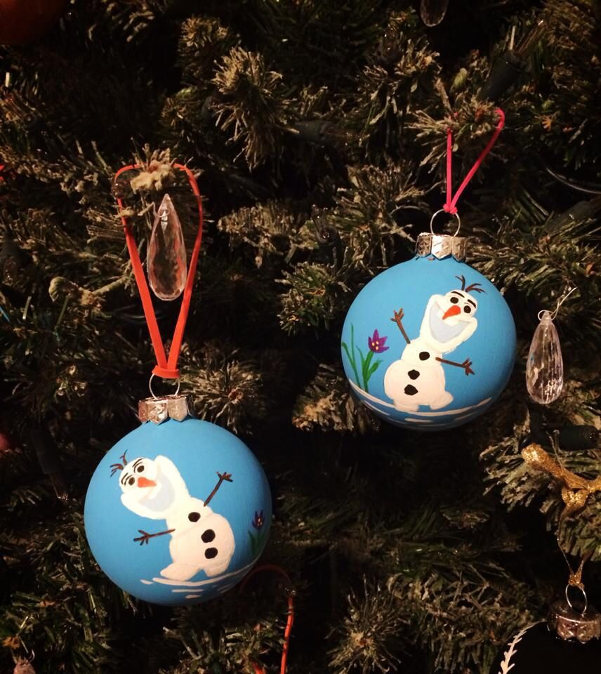 My Hand Painted Glass Olaf Frozen Christmas Ornaments Cartoon Character Art A Frozen Christmas Ornaments Christmas Crafts Decorations Christmas Orniments