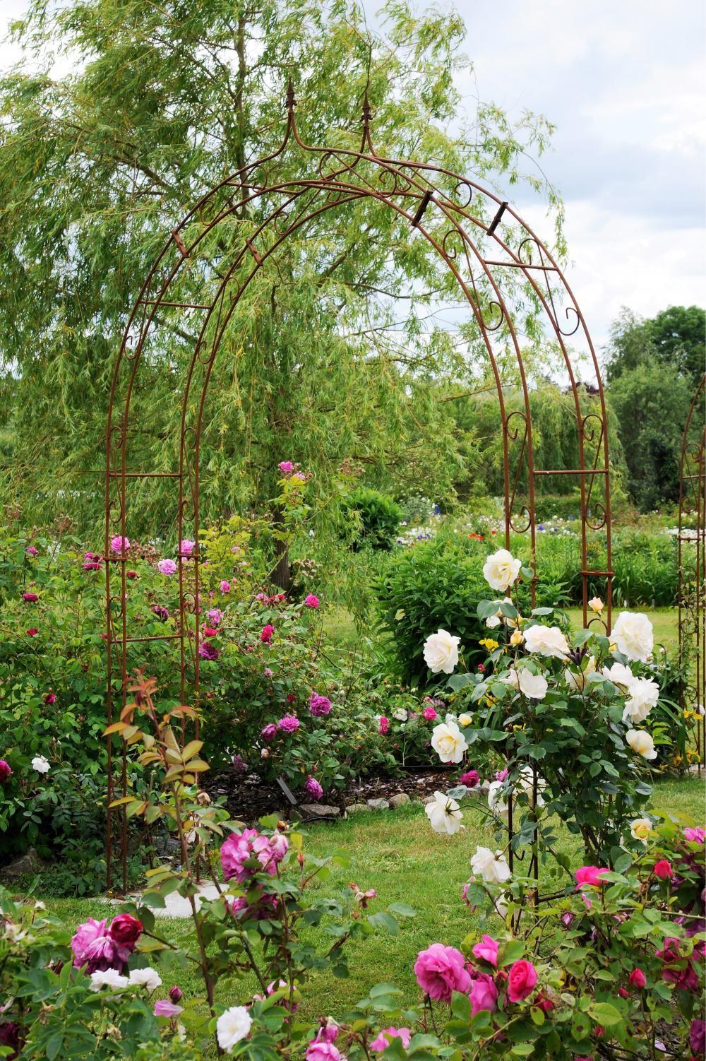 Gartengestaltung Mit Cortenstahl Gartengestaltung Cortenstahl Rosenbogen