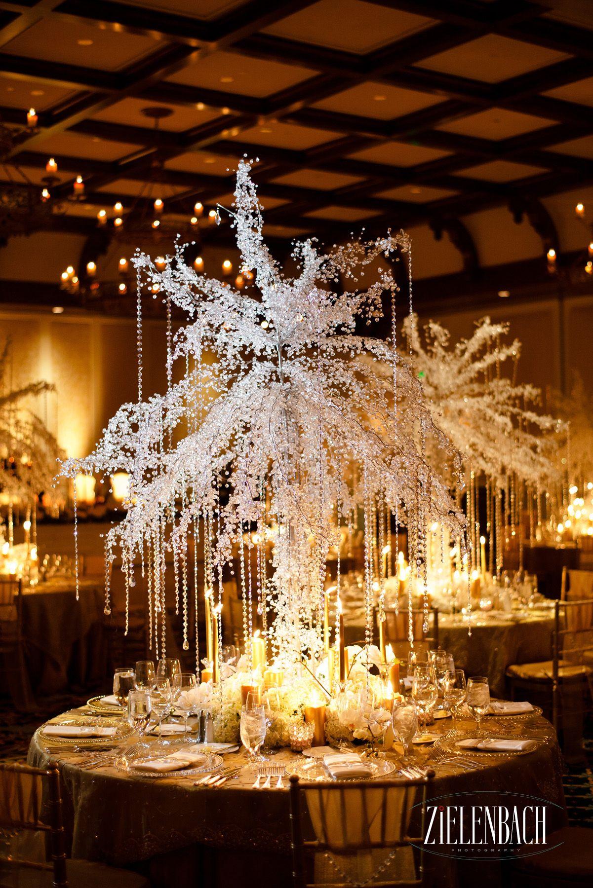 Crystalized Tree Centerpiece Wwwseaislandcom #Seaisland #Wedding #Decor #Events