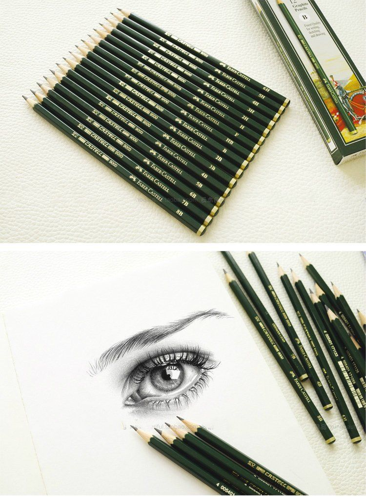 School Pencils HB Grade Artist Sketch Pencils Drawing Pencils with Sharpener Set