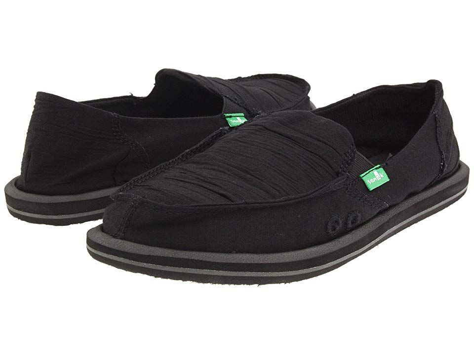 Sanuk Shuffle Women S Skate Shoes Black Womens Shoes